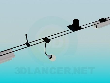 3d моделирование Угловой подвесной светильник модель скачать бесплатно