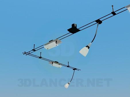 modelo 3D Lámpara colgante de la esquina - escuchar