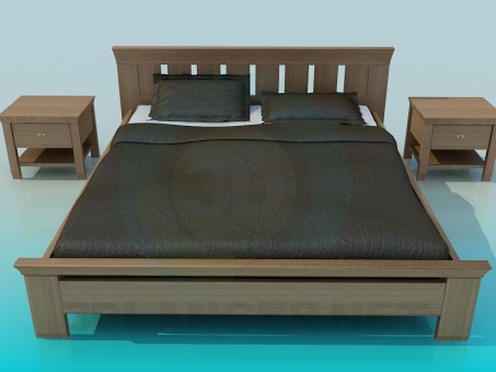 3d модель Кровать – превью