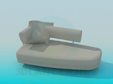 modelo 3D cama de caballete - escuchar