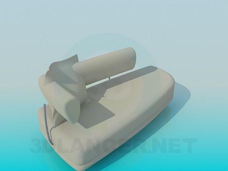 3d model trestle bed - preview