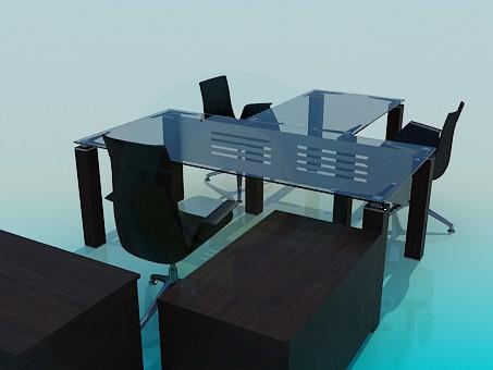 3d модель Мебель для рабочего кабинета – превью