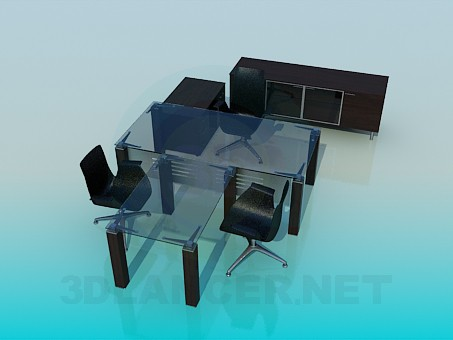 3d model Furniture for a study - preview