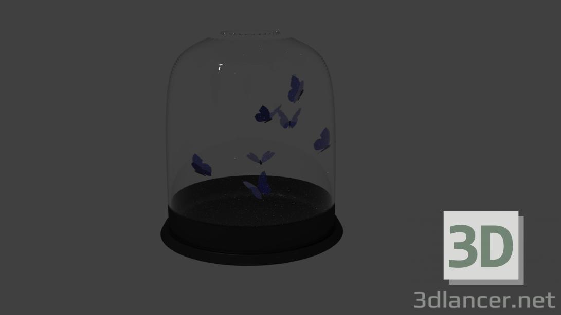 3 डी मॉडल बैंक में तितलियाँ - पूर्वावलोकन