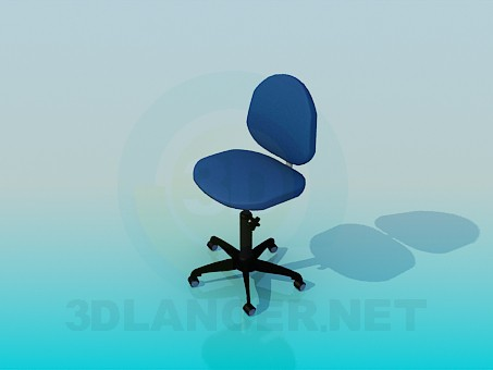 3d modeling Chair for computer's table model free download