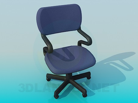3d model Chair on casters - preview