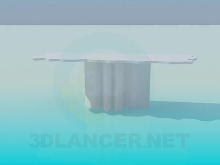 modelo 3D Mesa parietal con bordes irregulares - escuchar