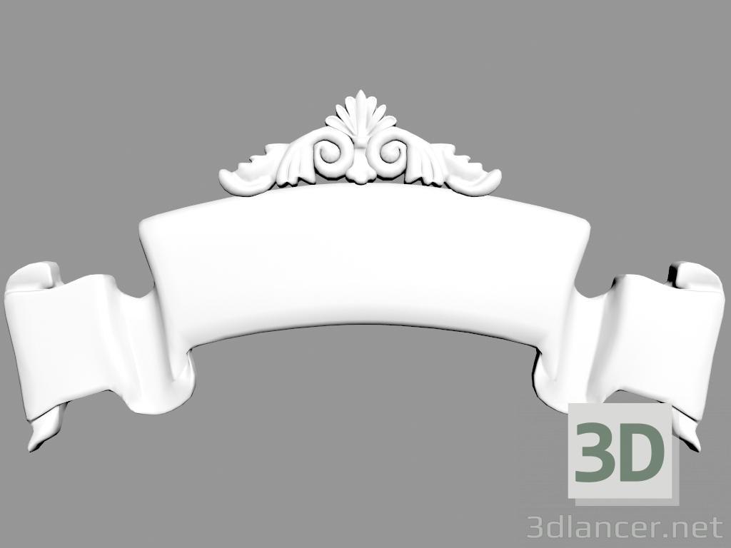 3 डी मॉडल सजावटी पैनल W762 - पूर्वावलोकन