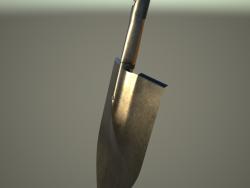 Pelle à baïonnette en acier