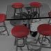 3 डी टेबल और कुर्सियाँ - टेबल और कुर्सियाँ मॉडल खरीद - रेंडर