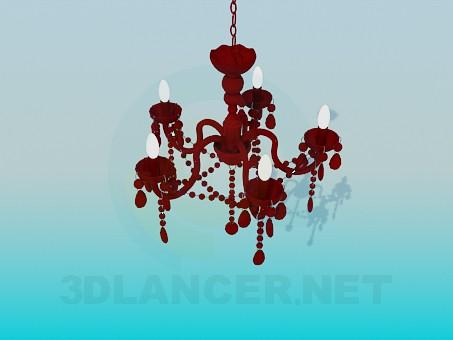 3d model Ceramic chandelier - preview