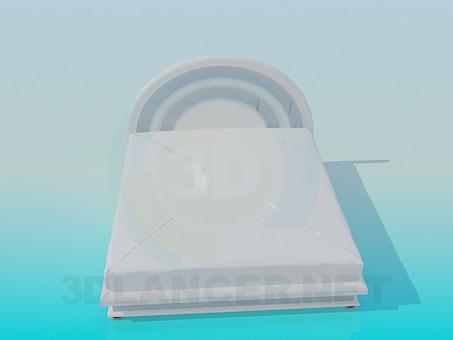 3d модель Кровать с мягким подголовником – превью