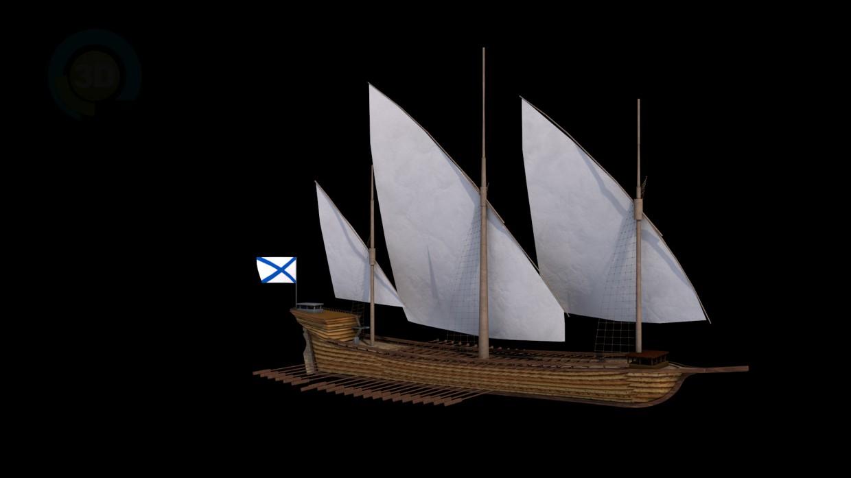 3d модель Галера_1714г – превью