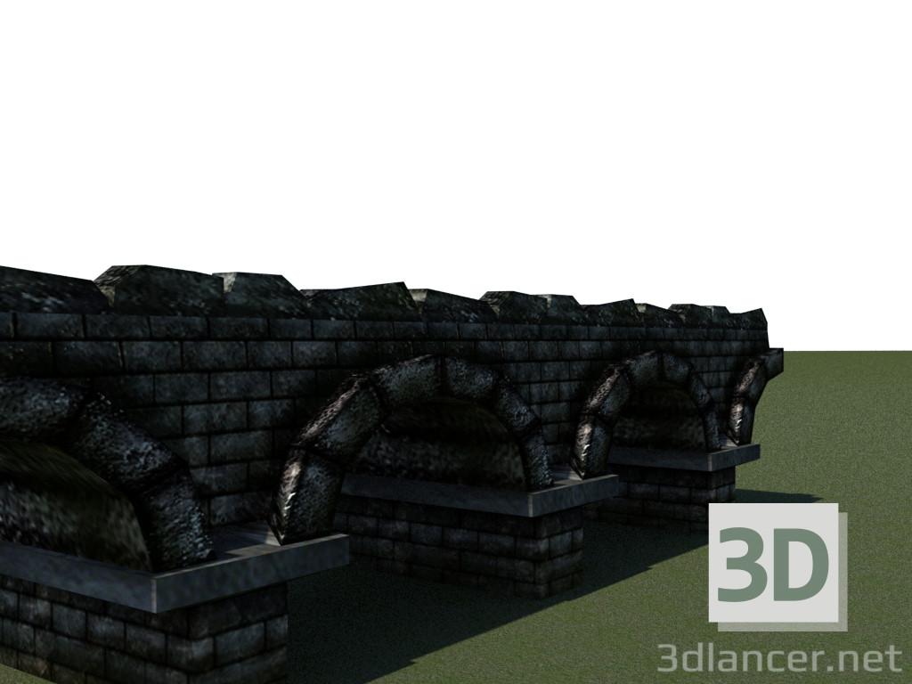 3d model Stone bridge - preview