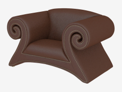 Armchair leather in art-deco style A161