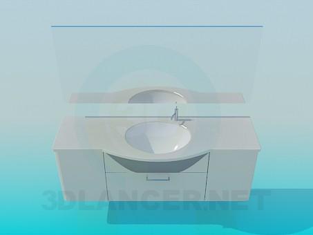 3d модель Умывальник – превью