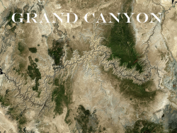 The texture of the landscape of the Grand Canyon