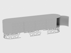 Шкаф для дневной зоны VICKY LOW CABINET DIAMOND (260X60XH72)