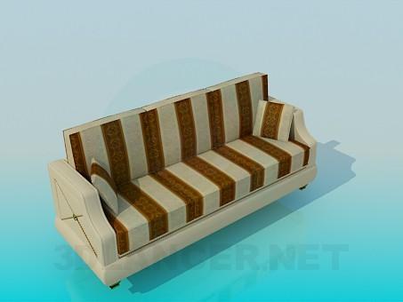 3d model Sofá de rayas - vista previa