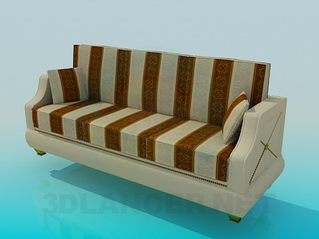 3d model Striped sofa - preview