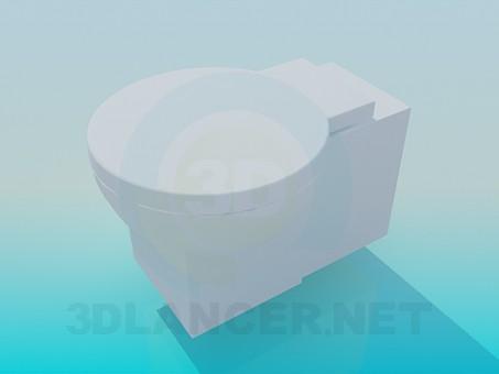3d модель Унітаз з круглою кришкою – превью