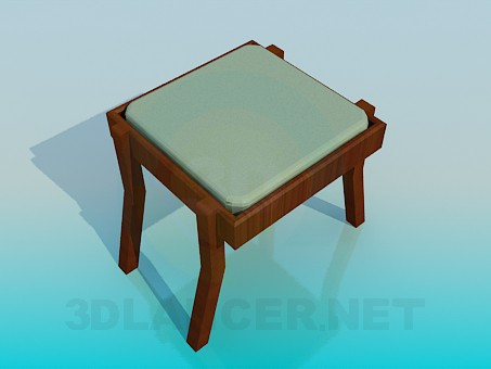 3d model Bench with upholstered cushion - preview