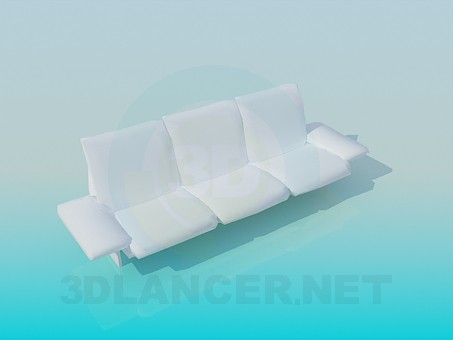 3d model Sofá moderno - vista previa