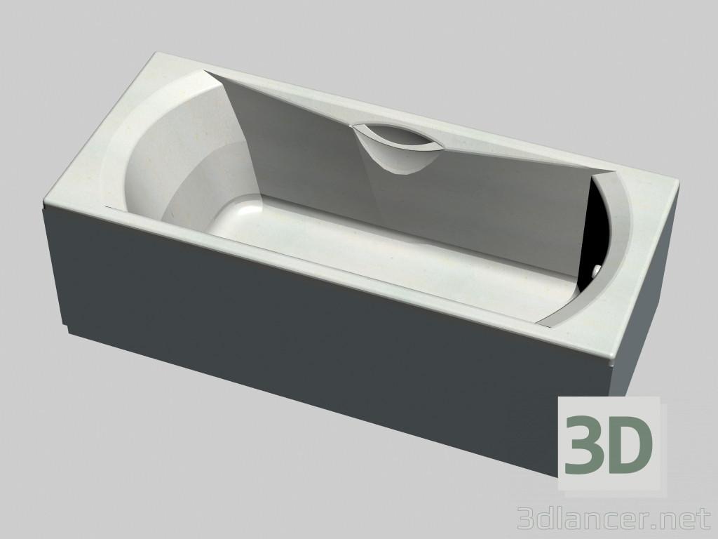 Vasca Da Bagno Con Pannelli : 3d modella vasca da bagno rettangolare con pannelli 180 sonata dal