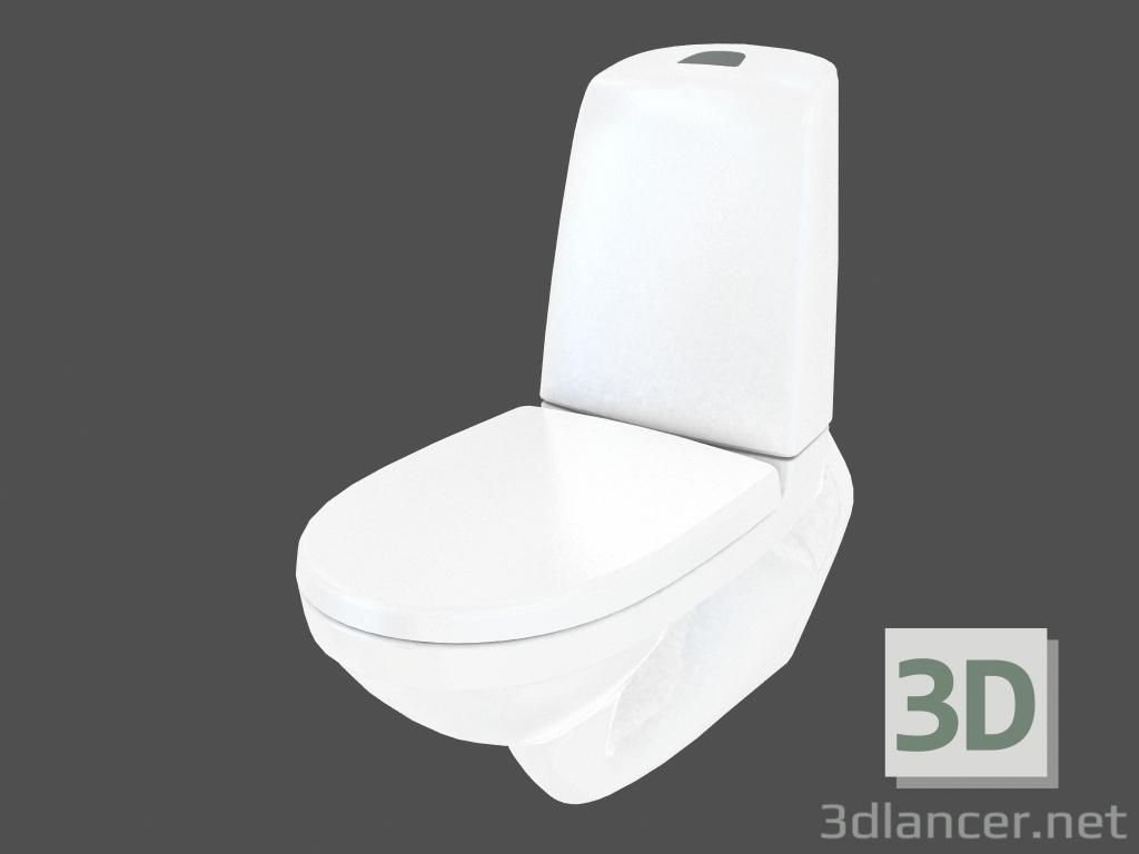 3d model Toilet bowl suspended 5520 NAUTIC manufacturer GUSTAVSBERG ...