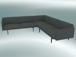 Corner sofa Outline (Remix 163, Black)