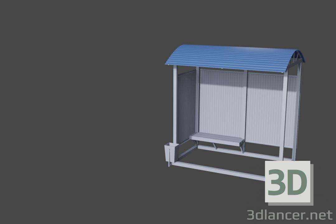 3d model Stop Omsk - preview