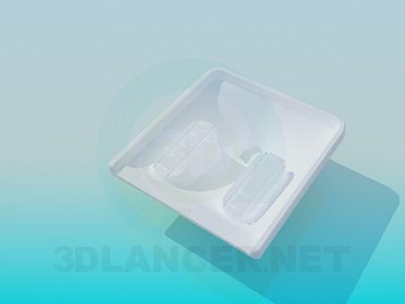 modelo 3D Aseo en la planta - escuchar