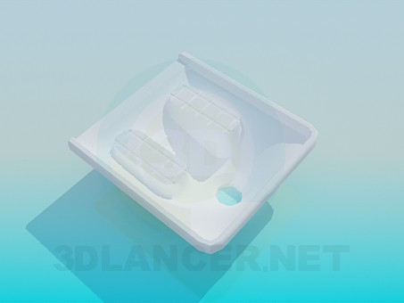 3d model Toilet on the floor - preview