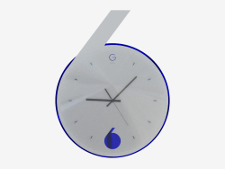 Wall clock with backlight in the form of sixes