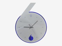 Orologio da parete con retroilluminazione a forma di sei