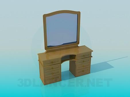 modelo 3D Espejo de madera - escuchar