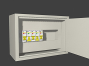 Electric shield with automatic protection