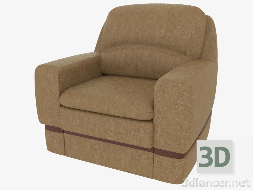 3D model armchair leather storage box xxl