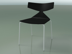 Stackable chair 3701 (4 metal legs, Black, V12)