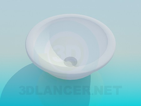 3d model Round wash basin - preview