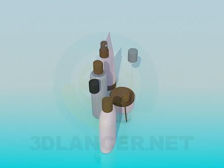 modelo 3D Cosméticos - escuchar