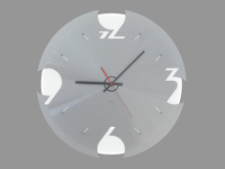 Wall clock with backlight and aluminum dial