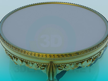 modelo 3D Mesa de centro antigua - escuchar