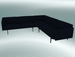 Corner sofa Outline (Vidar 554, Black)