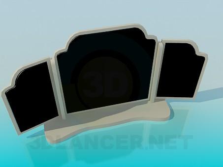 3d модель Дзеркало-трюмо – превью