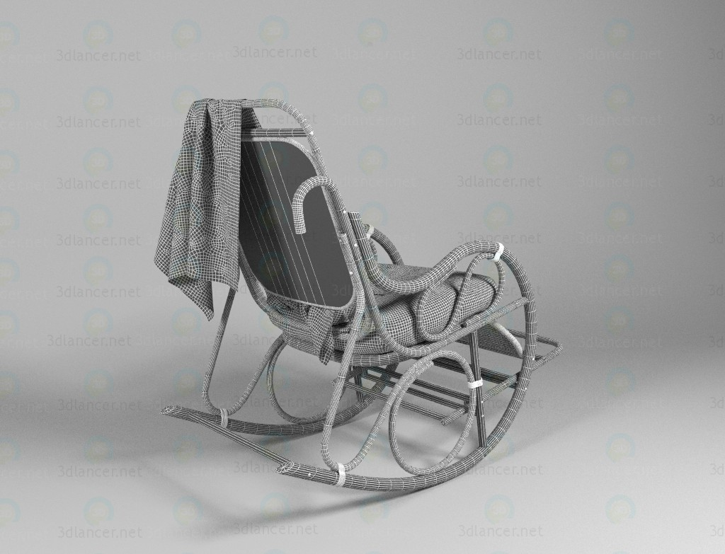 3d rocking chair model buy - render