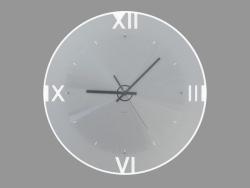 Wall clock with illumination and Roman numerals