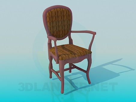 3d modeling Chair with armrests model free download