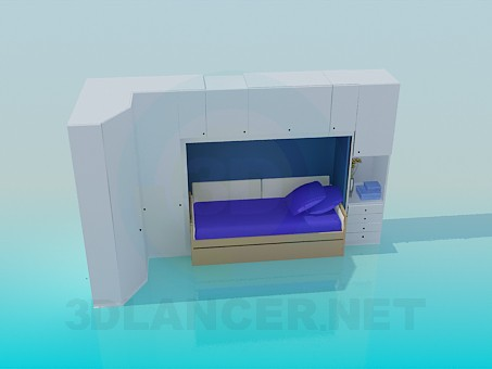 3d modeling Set of furniture in the bedroom model free download