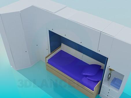 3d модель Набір меблів в спальню – превью